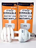 PureSpectrum 20W Fully Dimmable Spiral CFL(2 Pack) 2700K 6000 hours (75W Equivalent)