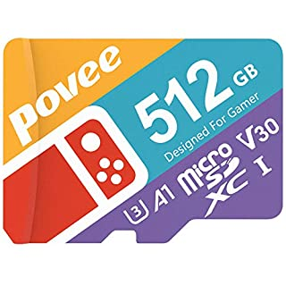 512GB Micro SD Card for Nintendo Switch,U3 MicroSDXC Card with Adapter,V30 Memory Card for Gopro Hero 7 Hero 8 Android Smartphone Digital Camera Tablet and DJI Drone