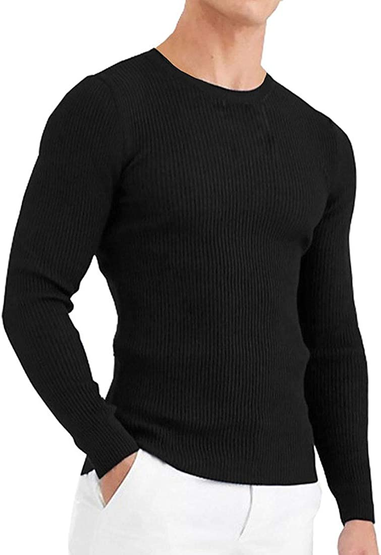 GAESHOW Mens Sweaters Pullovers, Soft Cotton Lightweight Pullover Top Long  Sleeve Crew Neck Slim Sweater at Amazon Men's Clothing store