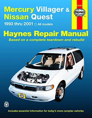 Mercury Villager & Nissan Quest (93-01) Haynes Repair Manual (Haynes Repair Manuals)