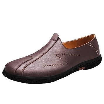 YAN Zapatos de Hombre Zapatos Casual Inteligentes Zapatos de Hombre Mocasines Zapatos de conducción de Cuero