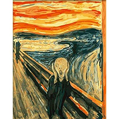 DIY PBN-Paint by Numbers Famous Painting The Scream by Edvard Munch 16-by-20 inches Frameless.: Toys & Games [5Bkhe1902751]