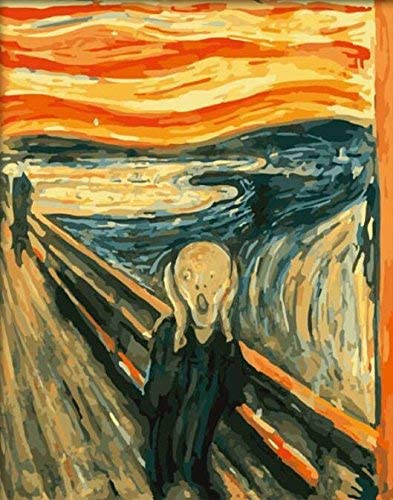 Paint By Numbers Edvard Munch The Scream DIY acrylic Painting Picture Art