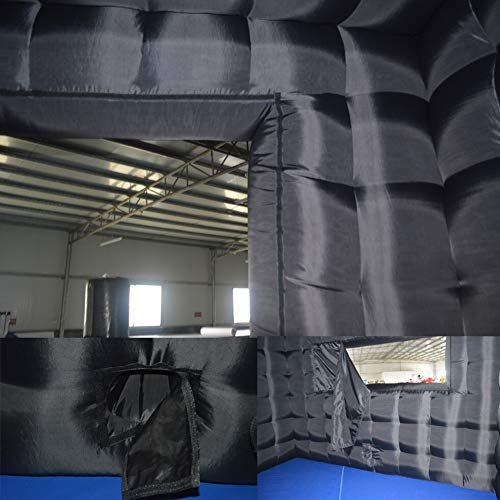 Sayok Inflatable Event Tent Inflatable Cube Tent for Advertising(Black, 13.12×13.12x10ft)