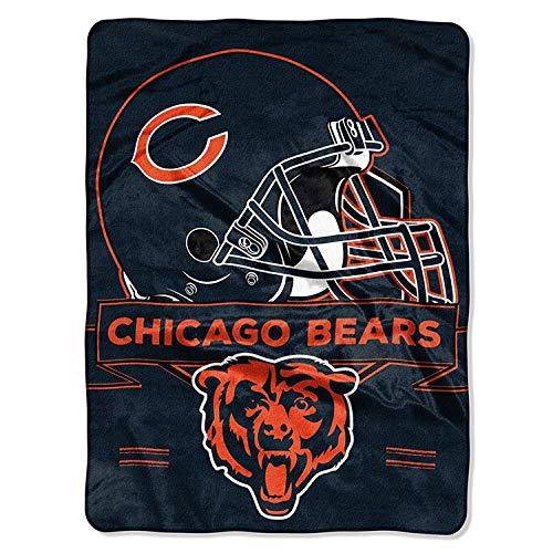 (The Northwest Company NFL Chicago Bears Prestige Plush Raschel Blanket, 60