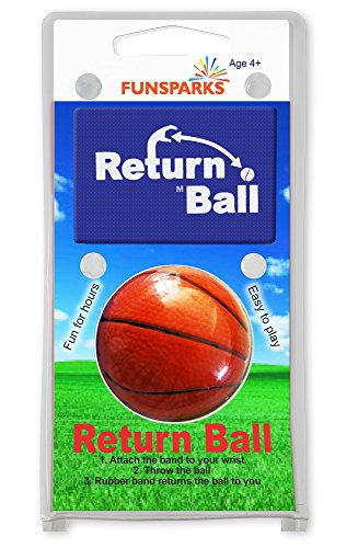Return Ball Basketball - Fun Single Player Toy For Indoor And Outdoor Play