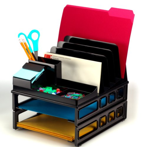 Officemate Front Load Sorter and Organizer with Two Lette...