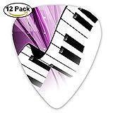 Guitar Picks Piano Keyboard Choiceness Celluloid Plectrum Thin Medium Heavy Bass Custom Variety Pick Small Music Gift Grip -12pcs