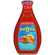 Ortega, Taco Sauces, 16oz Glass Jar (Pack of 2) (Choose Heats Below) (Original Hot)