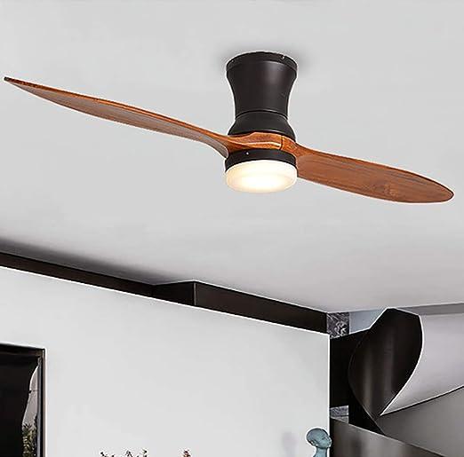 Ventilador de techo ventilador eléctrico de luz Registro moderno luz de ventilador para el hogar 52 pulgadas / 132 ...