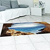 3D Angkor Wat (Sea) to study the kitchen floor wear anti-skid resistant decal (120x60cm)