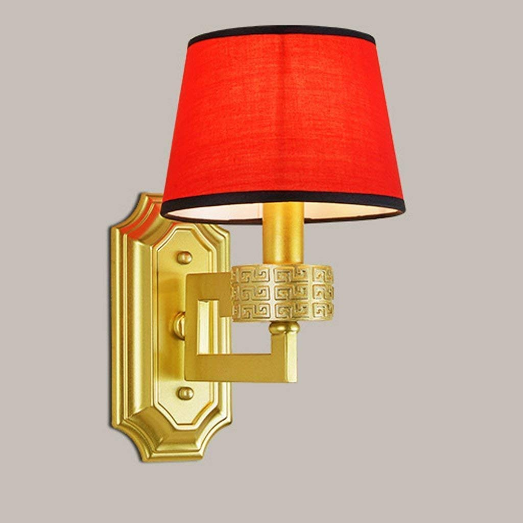 WHKHY Vogue Modern Cloth Wall Lamp Context Convenience Wall Furnishing Wall Lamp Floor Green Bedroom Bedside Table Lamps,Orange