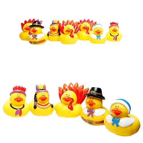 Fun Express Rubber Duckie Thanksgiving