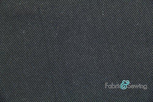 Black Bull Denim Fabric Cotton 12 Oz 58-60