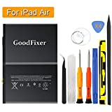 GoodFixer Battery for iPad Air - iPad 5 Generation - A1474 - A1475 - A1476 - A1822 - A1823 - with Full Repair Tools - New 0 Cycle Li-ion Replacement Battery [365 DAYS Warranty]
