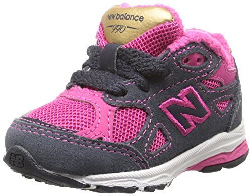 New Balance KJ990I Running Shoe (Infant/Little Kid) Pink/ Grey