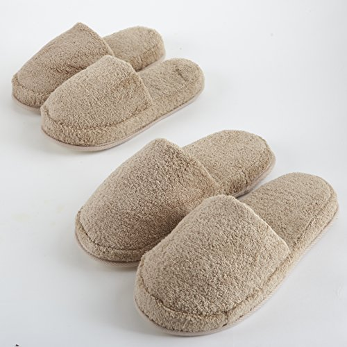 Turkish Luxury Spa Slippers for Men and Women, 100% Cotton Terry House Slippers Indoor/Outdoor, Made in Turkey