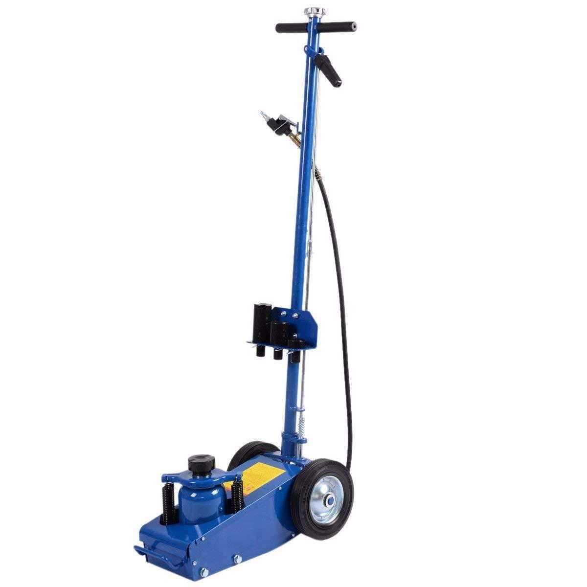 Goplus 22 Ton Air Hydraulic Floor Jack Truck Lift Jacks Service Repair Lifting Tool with Wheels