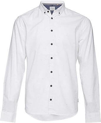 Blend - Camisa casual - para hombre Weiß M: Amazon.es: Ropa y accesorios