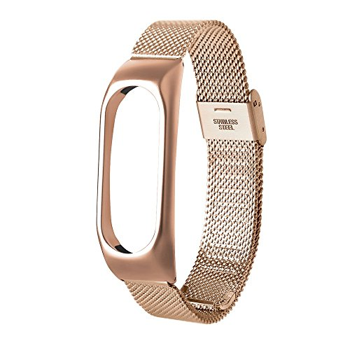 iuchoice ❤️❤️ Fashion Lightweight Stainless Steel Smart Wrist Watch Strap For Xiaomi Miband 2