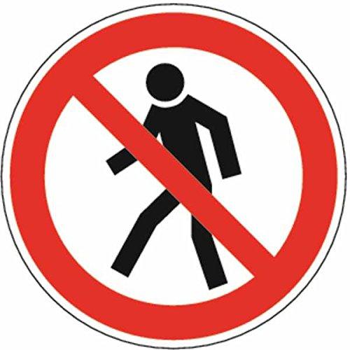 Cartel prohibido para peatones D de P003 - 200 x 0.45 mm ...