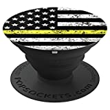 Security Guard Thin Yellow Line - PopSockets Grip and Stand for Phones and Tablets