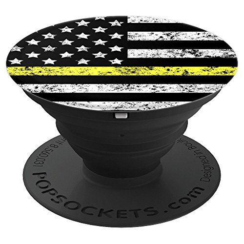 Security Guard Thin Yellow Line - PopSockets Grip and Stand for Phones and Tablets by Thin Yellow Line Flag Designs