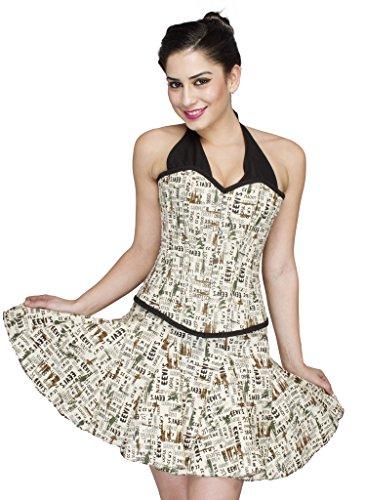 newspaper printed dress - 7