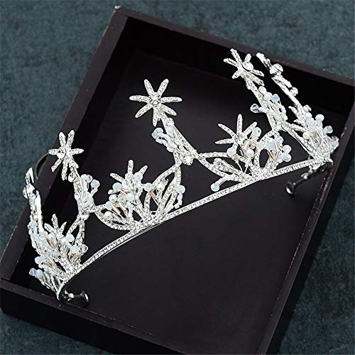 Silver Tiara, Crowns With Earrings For Bridal Rhinestone Headpiece Prom Queen Crown Wedding Jewelry Sets For Women Girls ()