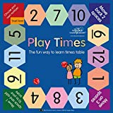 Play Times Table Game - the fun way to learn times tables, perfect for math and multiplication (up to 12x tables). 12 x 12 inches laminated game board. Suitable for elementary school years.