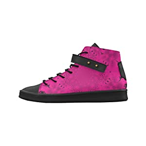 Shoes No.1 Women's Sneakers Lyra Round Toe High-top Shoes Fuchsia Burst For Outdoor