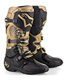 Limited Edition Tech 10 Aviator Off-Road Motocross Dirt Bike Motorcycle Boot (11, Black Gold Gray)