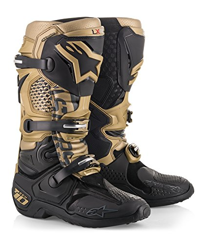 10 Aviator Off-Road Motocross Dirt Bike Motorcycle Boot (11, Black Gold Gray) ()