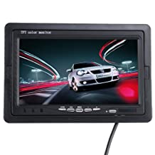 AGPtek Car Wireless Back-up Camera System with 7 inch TFT LCD Color Monitor