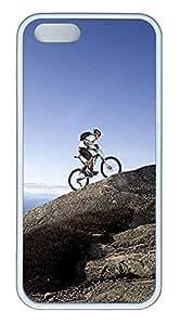 iPhone 5 5S Case Mountain Biking TPU Custom iPhone 5 5S Case Cover White