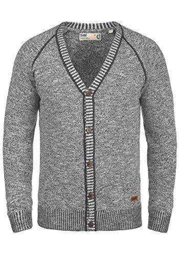 Grey Gilet 100 Cardigan Encolure Maille Veste En Coton Homme Pour Thiamin 2890 Avec solid V Dark qB6naRw