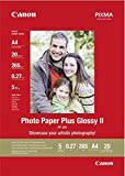 Canon PP 201 Photo Paper Plus Glossy II, 20 fogli A4 Carta fotografica