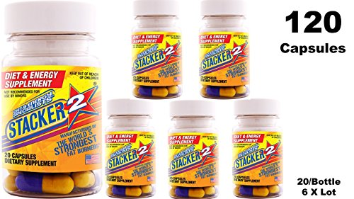 Stacker 2 Fat Burner Capsules 20ct (Lot of 6 X Bottles) = 120 Capsules Review