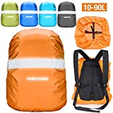 FANCYWING Waterproof Backpack Rain Cover with Reflective Strap, Upgraded 10-90L Non-Slip Rainproof Backpack Cover for Hiking, Camping, Hunting, Rain Cycling, Orange, S
