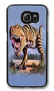 Samsung Galaxy S6 Edge Case, Striped Rex High Quality Hard Shell Snap-on Case for Samsung Galaxy S6 Edge Black Bumper