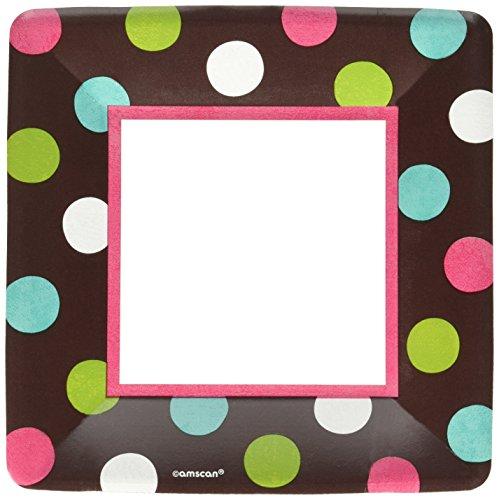 Amscan Chocolate Dots Dessert Plates | 18 Ct. | 7