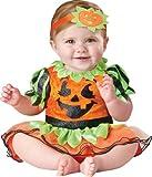 InCharacter Baby Girl's Pumpkin Patch Princess Costume, Orange/Green, Medium