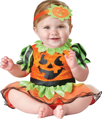Pumpkin Patch Princess Costumes (InCharacter Baby Girl's Pumpkin Patch Princess Costume, Orange/Green, Small)