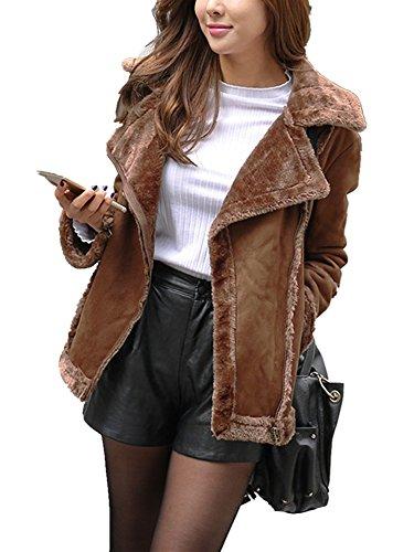 Zip Front Faux Suede Jacket - 3