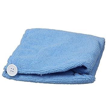 Tovagliolo Turbante Cappello Microfibra Secco Capelli Assorbente Pierre-cedric - Blu