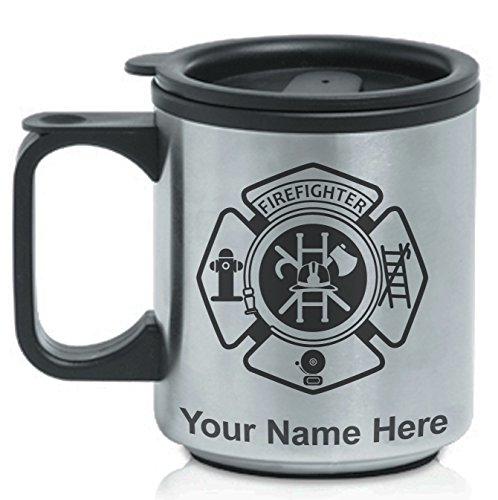 Personalized Coffee Travel Mug - Firefighter - Custom Engraved for Free