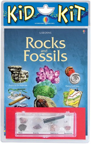 Rocks and Fossils Kid Kit [With Box Containing Rocks and Magnifying Glass] (Usborne Kid Kits)
