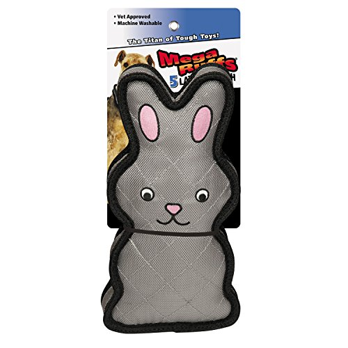 Grriggles MegaRuffs Chaser Toy for Dogs, Rabbit, 7""