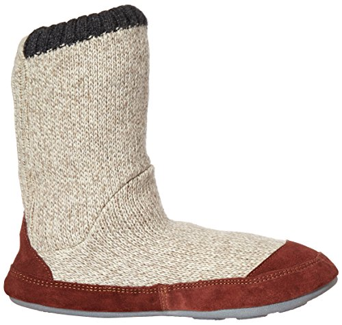 Slipper Slouch Ragg Grey Wool Men's Boot Acorn q7Z6wtPO