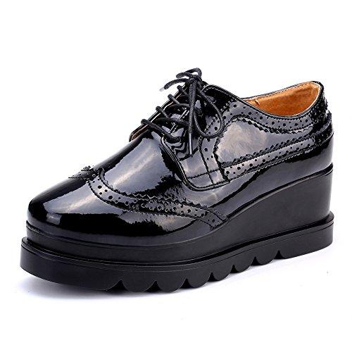 Zapatos de plataforma de primavera/Zapatos de señora Brock correa/Zapatos de fondo plano de aire de Reino Unido B